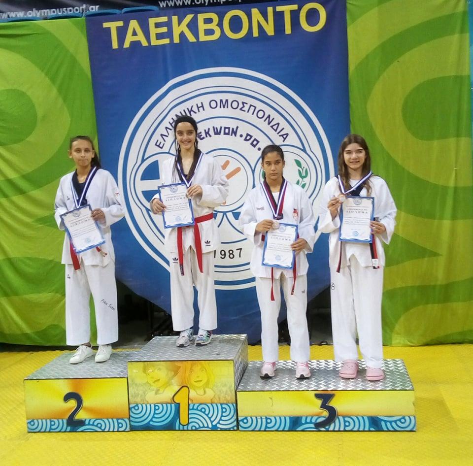 Χάλκινο μετάλλιο η Παπαδοπούλου Δανάη για την Εορδαική Δύναμη στο Διασυλλογικό Πρωτάθλημα Πανελλήνιας Συμμετοχή TAEKWONDO 2017
