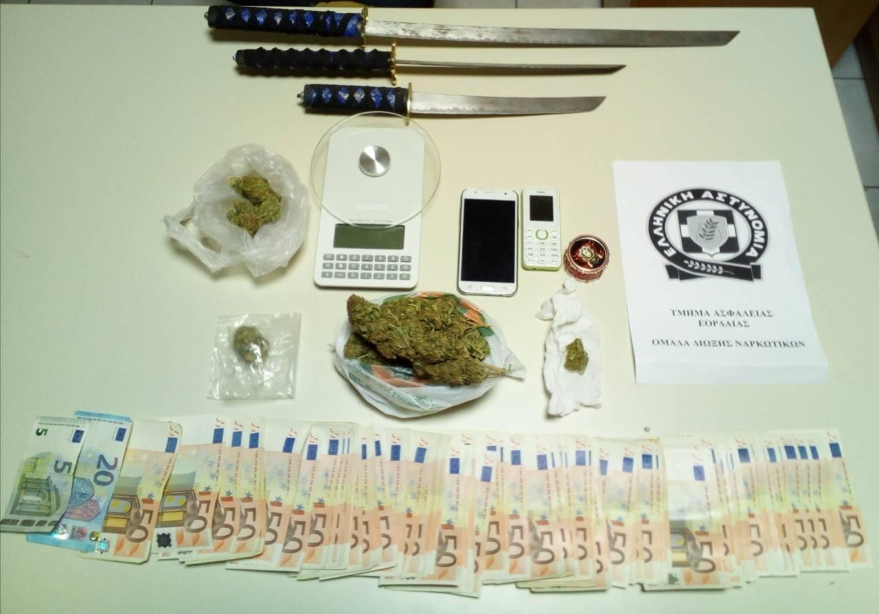 Σύλληψη -3- ημεδαπών στην Πτολεμαΐδα για παραβάσεις των νόμων περί ναρκωτικών και περί όπλων