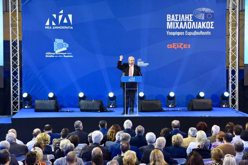 Ο κ. Μιχαλολιάκος προέβλεψε με σιγουριά τη μεγάλη νίκη της Ν.Δ στις Ευρωεκλογές