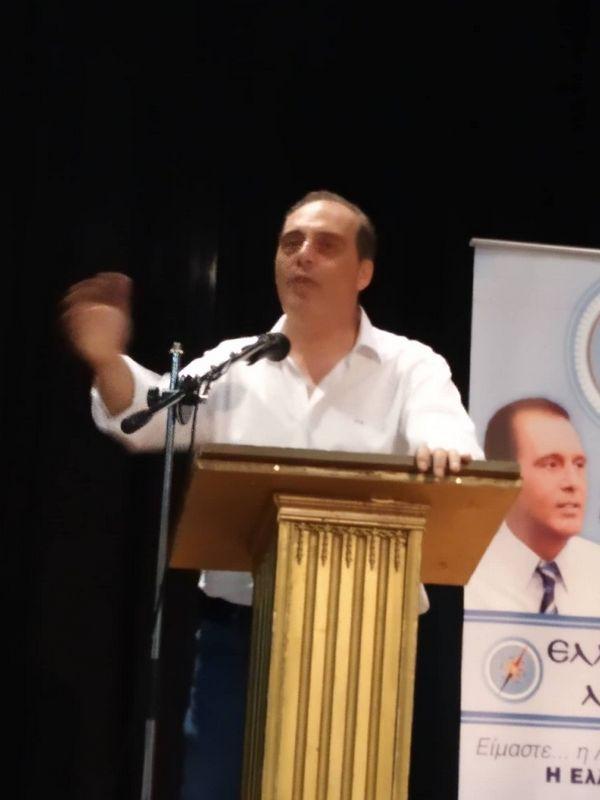 O Πρόεδρος της Ελληνικής Λύσης Κυριάκος Βελόπουλος στην Πτολεμαίδα.